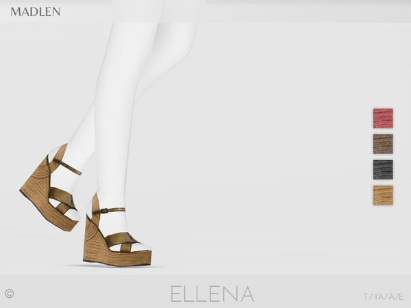 Sims 4 Madlen Ellena Shoes by MJ95 at TSR