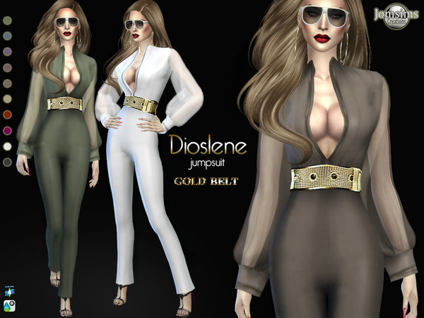 Sims 4 Dioslene jumpsuit by jomsims at TSR