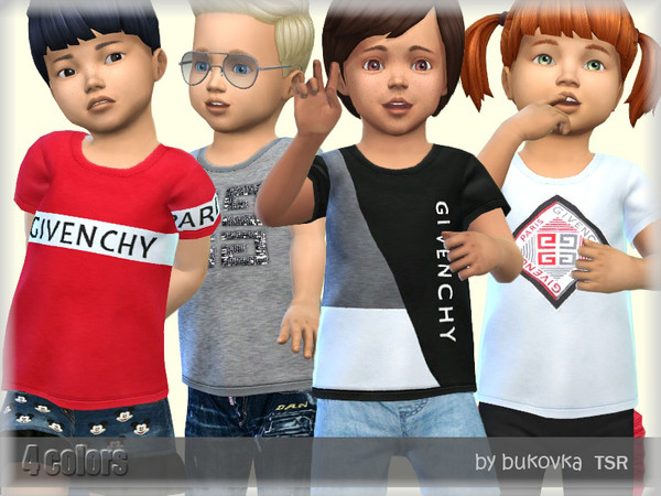 Shirt Toddler m/f by bukovka at TSR image 3513 Sims 4 Updates