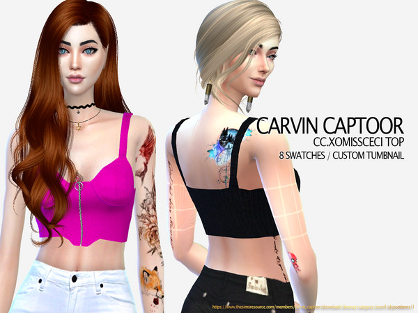 Sims 4 Xomissceci Top by carvin captoor at TSR