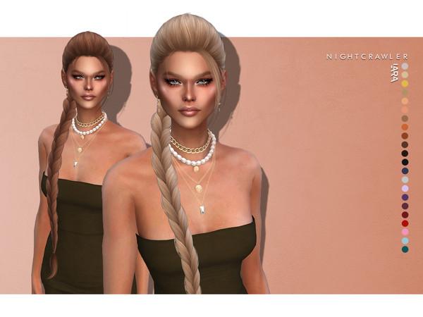 Sims 4 Lara hair by Nightcrawler Sims at TSR