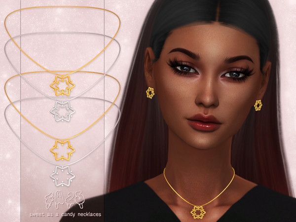 Sims 4 Sweet as a Candy Necklaces by 4w25 at TSR