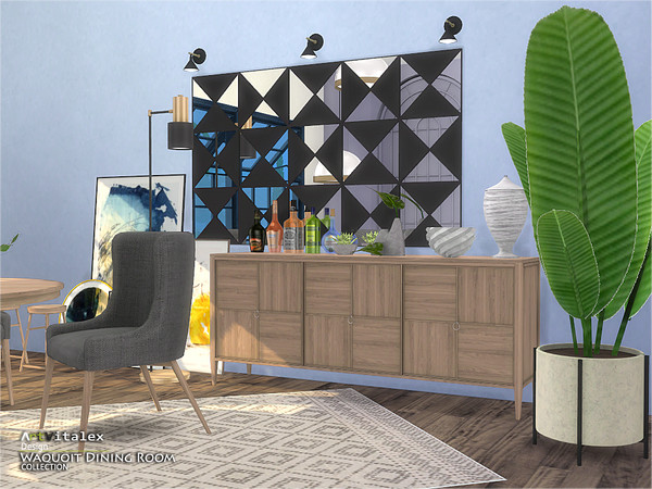 Sims 4 Waquoit Dining Room by ArtVitalex at TSR