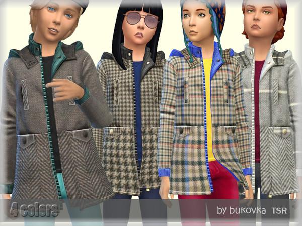 Sims 4 Coat Tweed by bukovka at TSR