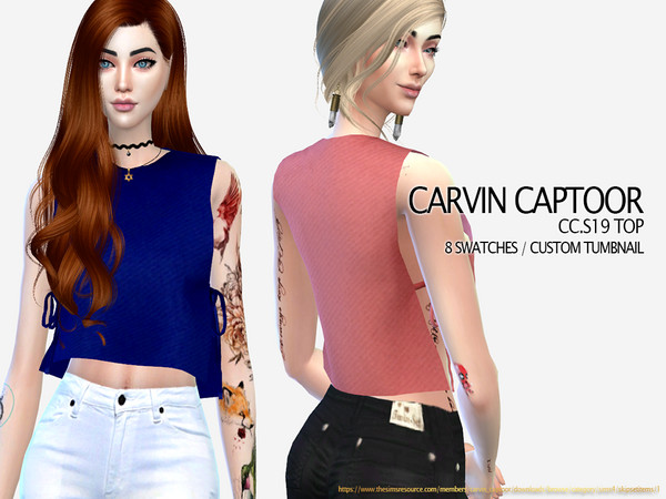 Sims 4 CC.S19 Top by carvin captoor at TSR