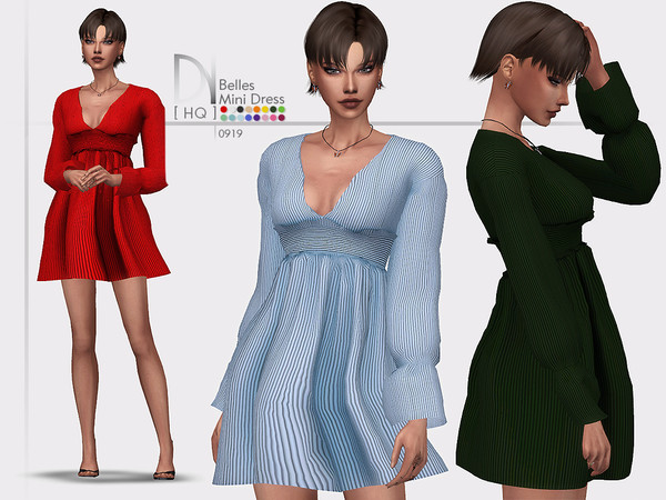 Sims 4 Belles Mini Dress by DarkNighTt at TSR