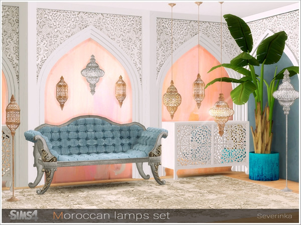 Sims 4 Moroccan lamps set by Severinka at TSR