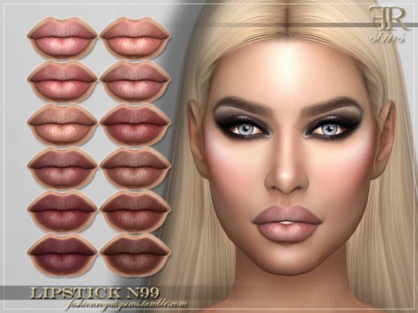 Sims 4 FRS Lipstick N99 by FashionRoyaltySims at TSR