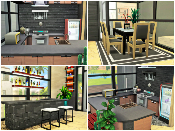 Anubis modern two story house by Xandralynn at TSR image 390 Sims 4 Updates