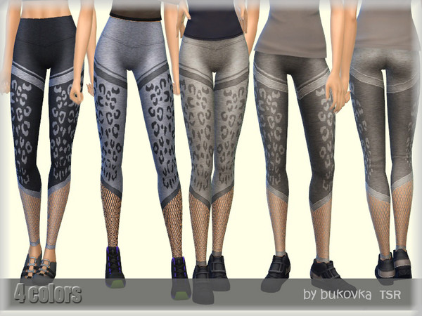 Sims 4 Leopard Leggings by bukovka at TSR