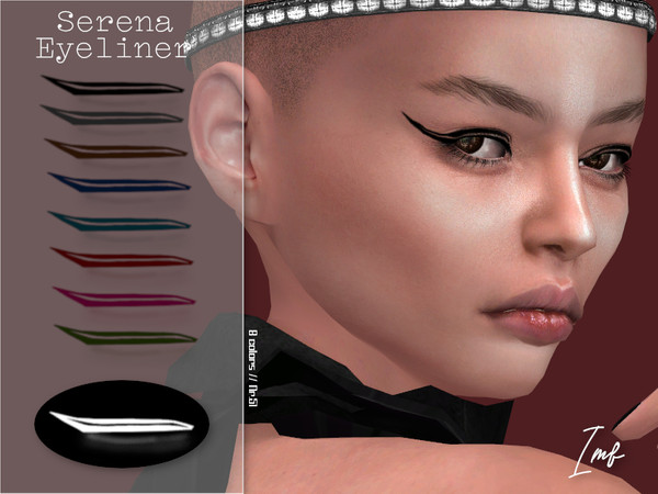 Sims 4 IMF Serena Eyeliner N.51 by IzzieMcFire at TSR