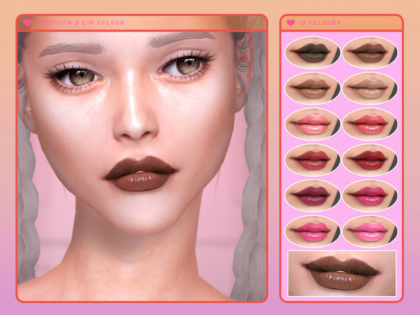 Precision Lip Colour by Screaming Mustard at TSR image 4010 Sims 4 Updates