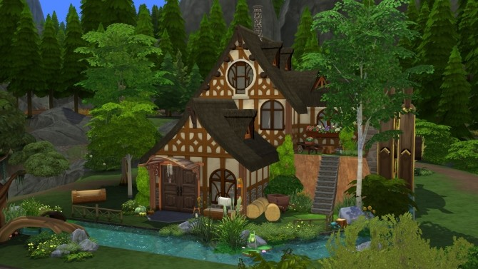 The Woodsmns Cottage CC Free by kiimy 2 Sweet at Mod The Sims image 408 670x377 Sims 4 Updates
