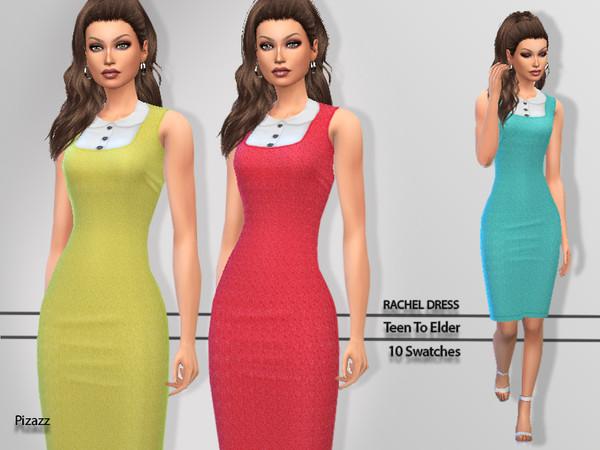 Sims 4 Rachel Dress by pizazz at TSR