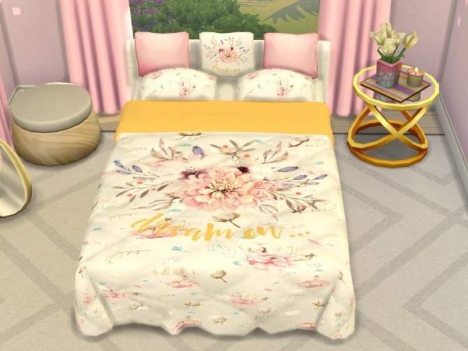 Sims 4 Bed recolor at Louisa Creations4Sims