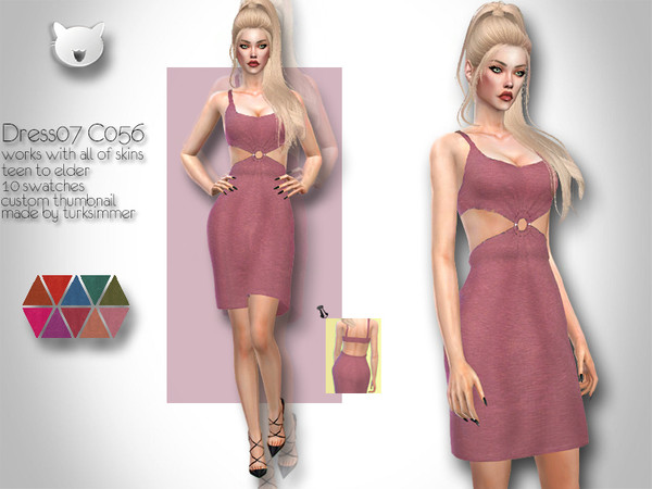 Sims 4 Dress 07 C056 by turksimmer at TSR
