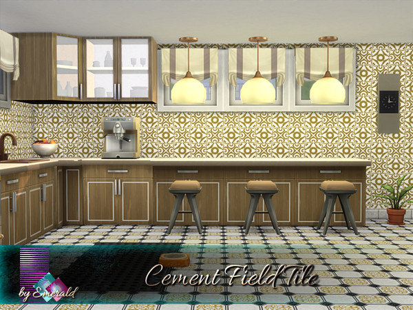 Sims 4 Cement Field Tile by emerald at TSR