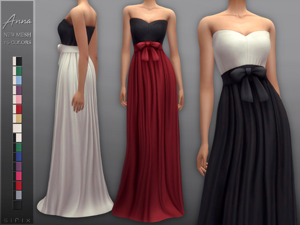 Sims 4 Anna Dress by Sifix at TSR