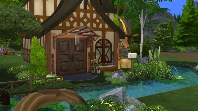 The Woodsmns Cottage CC Free by kiimy 2 Sweet at Mod The Sims image 438 670x377 Sims 4 Updates