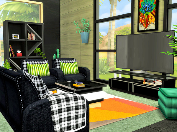 Anubis modern two story house by Xandralynn at TSR image 460 Sims 4 Updates