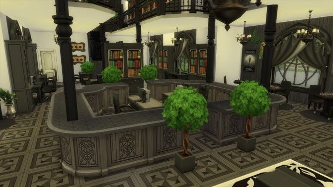 Sims 4 Glimmerbrook renovation #1 | Restricted Section Library by iSandor at Mod The Sims