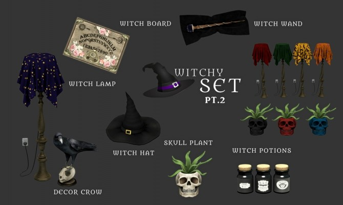 Sims 4 Witchy Set PT.2 (P) at Leo Sims