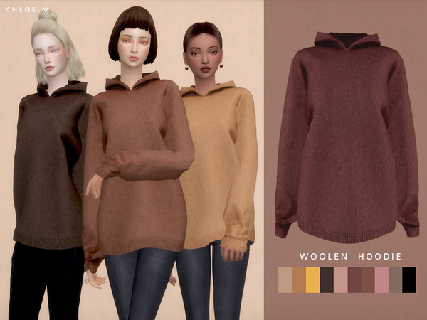 Woolen Hoodie by ChloeMMM at TSR image 4718 Sims 4 Updates
