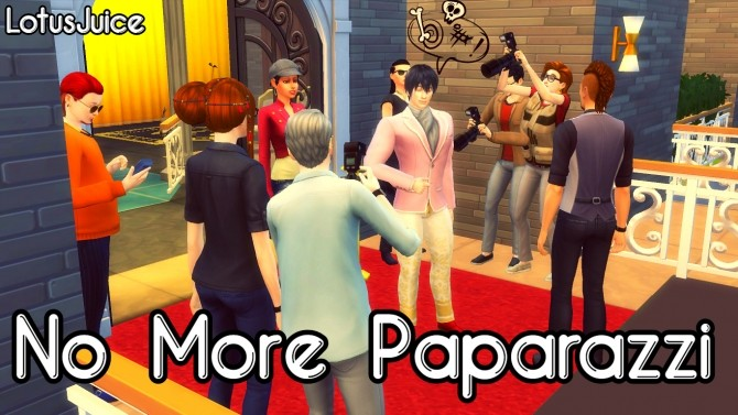 Sims 4 No More Paparazzi by lotusjuice at Mod The Sims