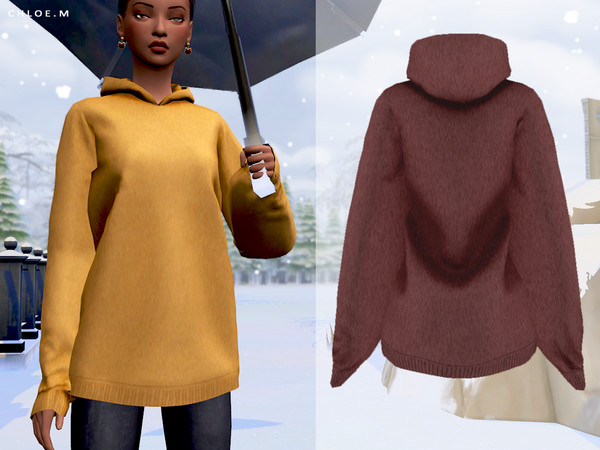 Woolen Hoodie by ChloeMMM at TSR image 4818 Sims 4 Updates