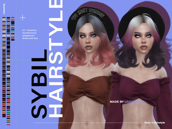 Sybil Hair by Leah Lillith at TSR image 489 Sims 4 Updates