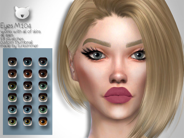 Sims 4 Eyes M104 by turksimmer at TSR