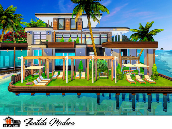Sims 4 Buntida Modern house by autaki at TSR
