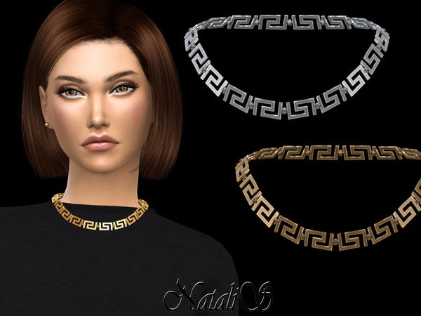 Greek motif short necklace by NataliS at TSR image 518 Sims 4 Updates