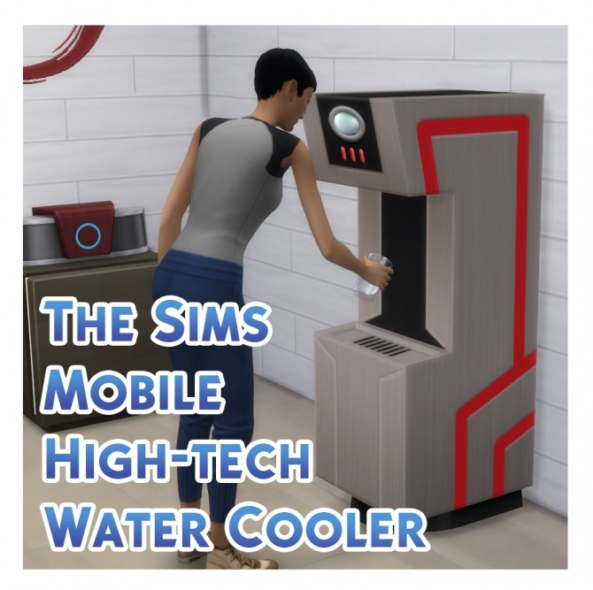 Sims 4 TSMobile > TS4 High tech Water Cooler Recreation by Menaceman44 at Mod The Sims