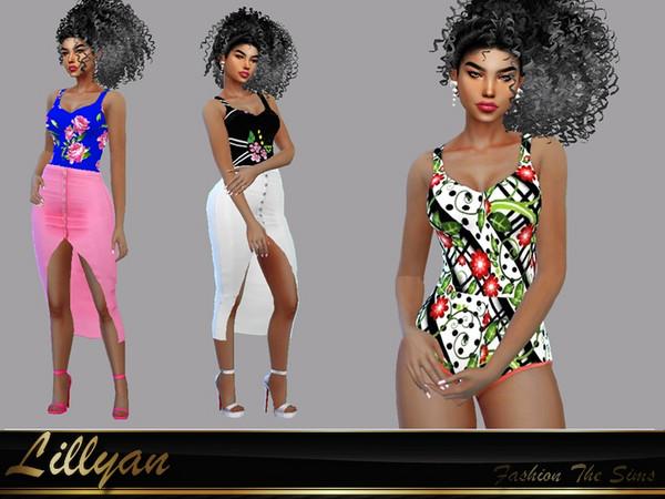 Sims 4 Bodysuit Carol by LYLLYAN at TSR