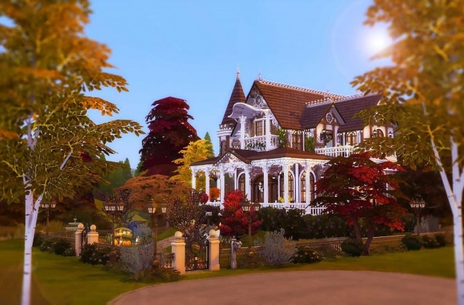 Victorian Autumn House by Ruby Red at Ruby's Home Design image 528 670x440 Sims 4 Updates