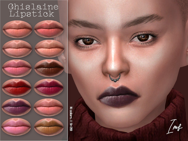 Sims 4 IMF Ghislaine Lipstick N.201 by IzzieMcFire at TSR