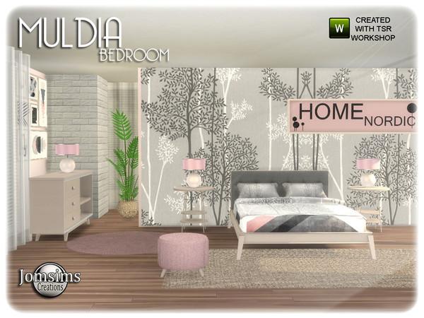 Sims 4 Muldia bedroom by jomsims at TSR