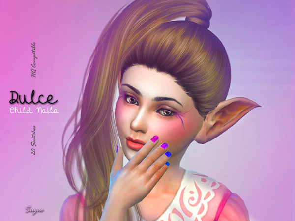 Sims 4 Dulce Child Nails by Suzue at TSR
