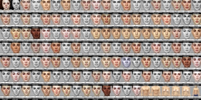 Sims 4 138 skins Ultimate collection at Praline Sims