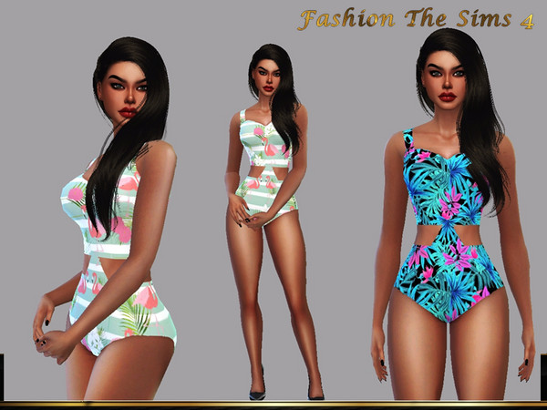 Sims 4 Collection Swimsuit Safira by LYLLYAN at TSR