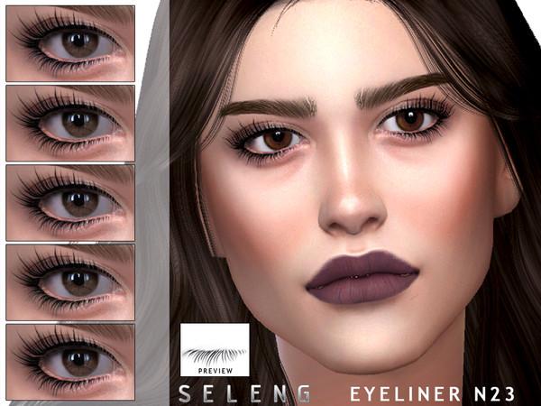 Sims 4 Eyeliner N23 by Seleng at TSR