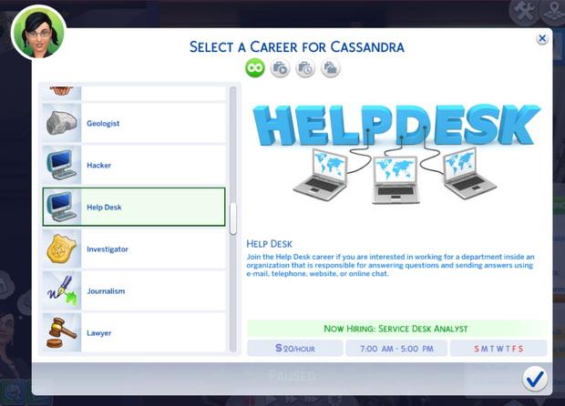 Help Desk Career At Kiara S Sims 4 Blog Sims 4 Updates