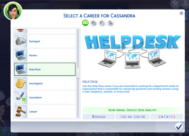 Sims 4 Help Desk Career at Kiara's Sims 4 Blog