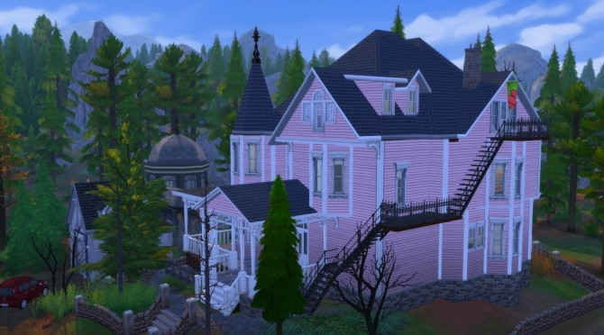 Sims 4 Coraline The Pink Palace Apartments by joiedesims at Mod The Sims
