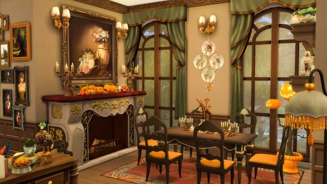 Victorian Autumn House by Ruby Red at Ruby's Home Design image 578 670x377 Sims 4 Updates