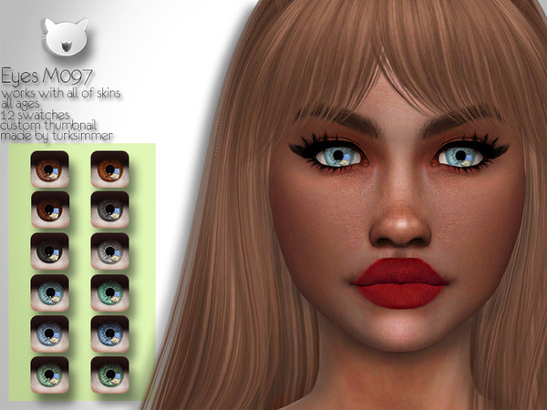 Sims 4 Eyes M097 by turksimmer at TSR