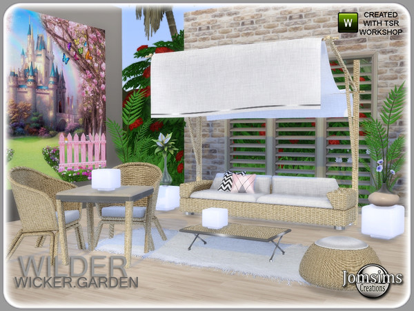 Wilder wicker garden set by jomsims at TSR image 5819 Sims 4 Updates