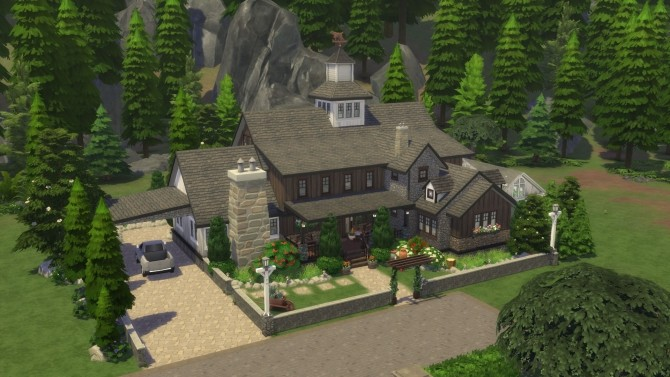 Sims 4 Spellcaster Lodge Cabin by bradybrad7 at Mod The Sims