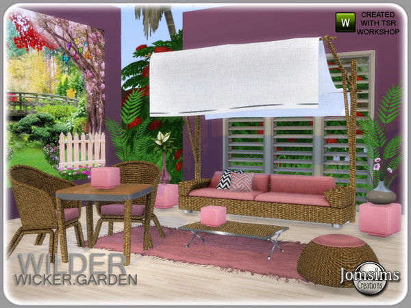 Wilder wicker garden set by jomsims at TSR image 5920 Sims 4 Updates